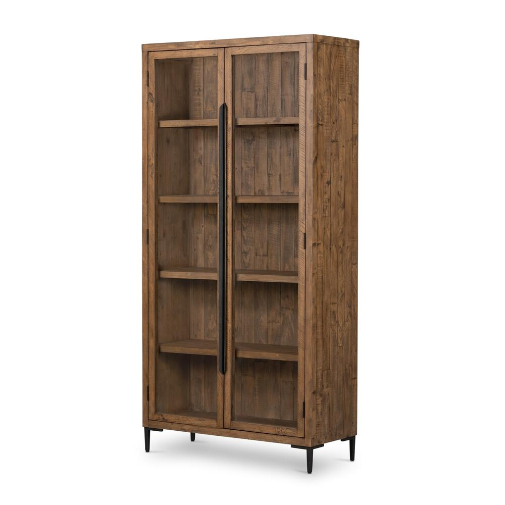 See Details - Rustic Sandalwood Finish Wyeth Cabinet