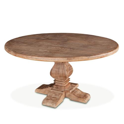 "San Rafael 60"" Round Dining Table Antique Oak"