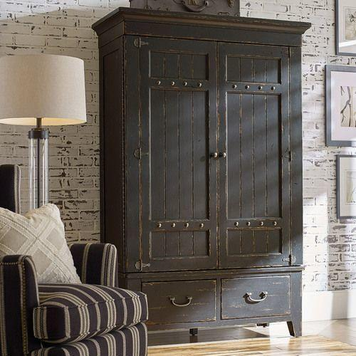 Mill House Simmons Armoire - Complete - Anvil Finish