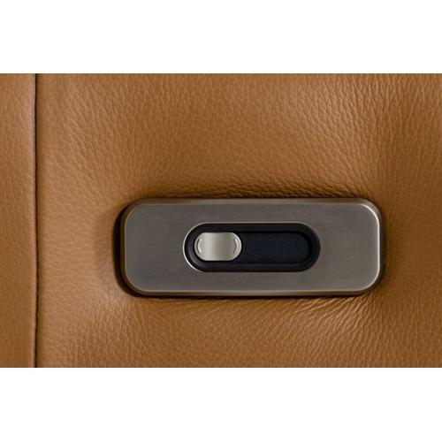 Gallery - Estro Salotti Blossom Modern Cognac Leather Dual Reclining Sofa
