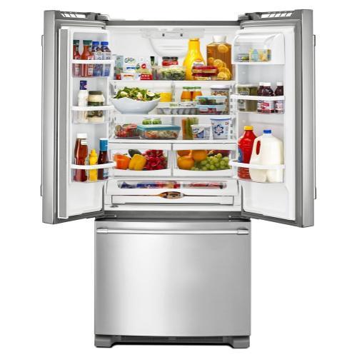 Maytag - 33-Inch Wide French Door Refrigerator - 22 Cu. Ft.