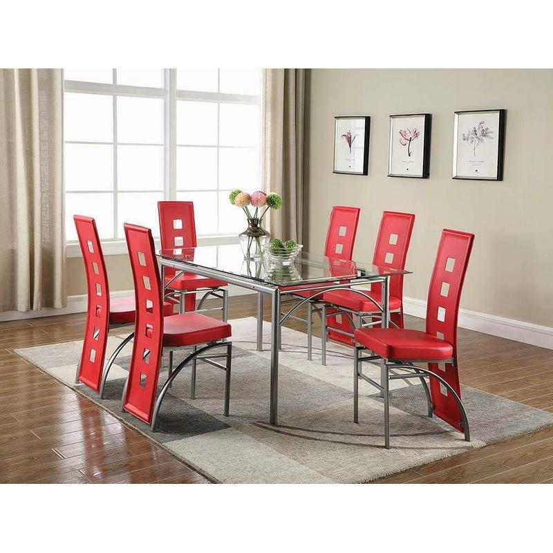 View Product - Los Feliz Contemporary Metal Dining Table