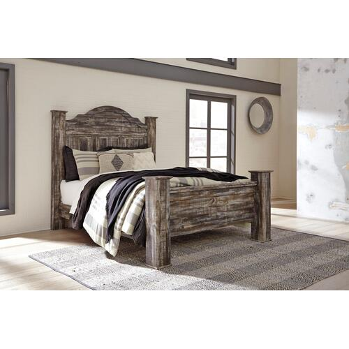Lynnton - Rustic Brown 4 Piece Bed (Queen)