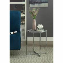 ACME Leora Side Table - 80395 - Clear Acrylic & Chrome