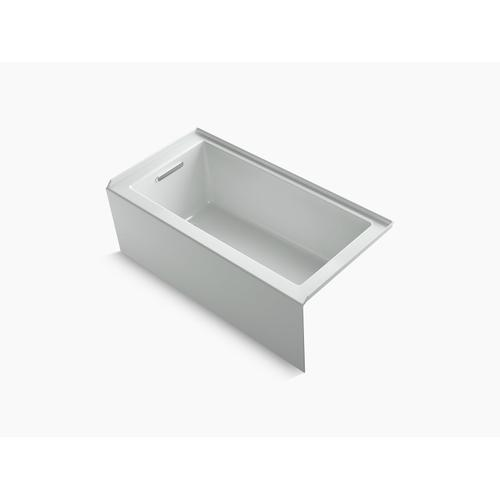 "Ice Grey 60"" X 30"" Alcove Bath With Integral Apron, Integral Flange and Left-hand Drain"