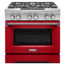 See Details - 36'' 6-Burner Dual Fuel Freestanding Range, Commercial-Style Signature Red