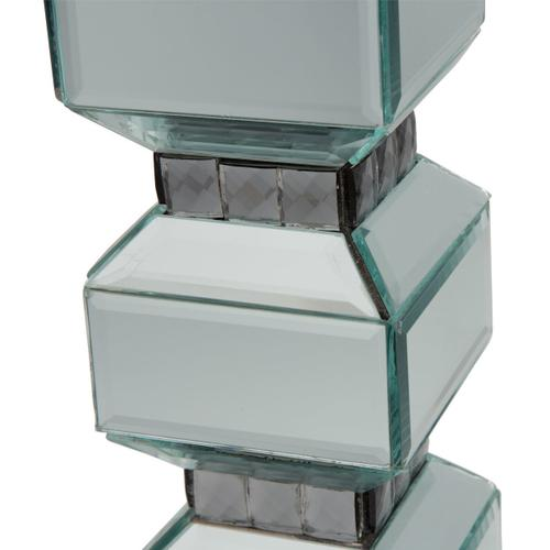 3-tier Mirrored Candle Holder W/crystals