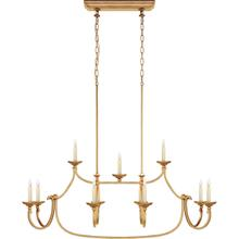 View Product - Chapman & Myers Flemish 1 Light 50 inch Gilded Iron Linear Pendant Ceiling Light in (None), Large
