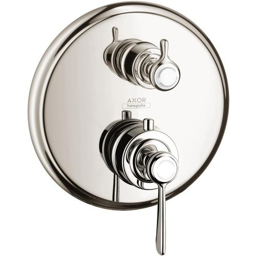 Polished Nickel Thermostatic Trim with Volume Control