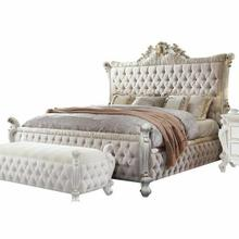 ACME Picardy California King Bed - 27874CK - Fabric & Antique Pearl