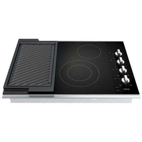 Gallery - 30-Inch Electric Cooktop with Reversible Grill and Griddle