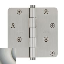 "Satin Nickel with Lifetime Finish 1/4"" Radius Corner Hinge"