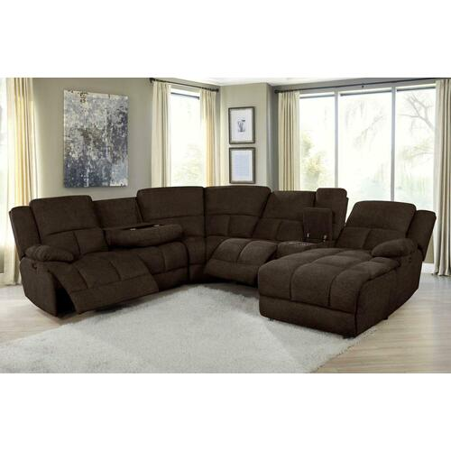 Coaster - 6 PC Power Sectional