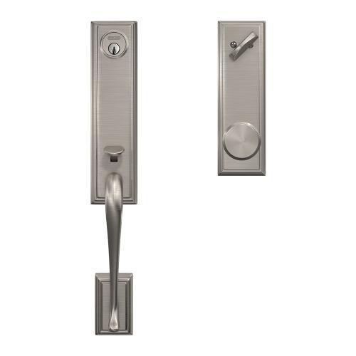 Custom Addison 3/4 Trim Single Cylinder Handleset with Bowery Knob - Satin Nickel