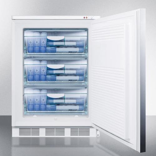 Summit - Built-in Undercounter Medical All-freezer Capable of -25 C Operation, With Front Lock, Wrapped Stainless Steel Door and Horizontal Handle