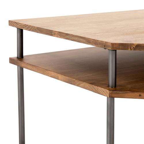 Joaquin Modular Corner Desk-honey Poplar