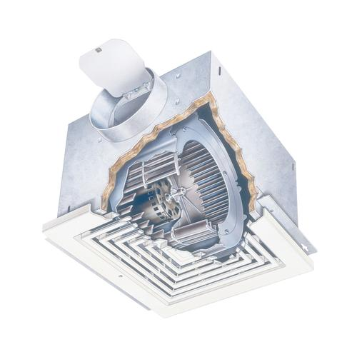 Broan® LOSONE SELECT 109 CFM High Capacity Ceiling Mount Ventilation Fan, 0.9 Sones