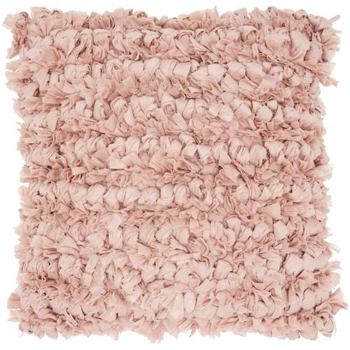 "Shag Dl658 Blush 20"" X 20"" Throw Pillow"