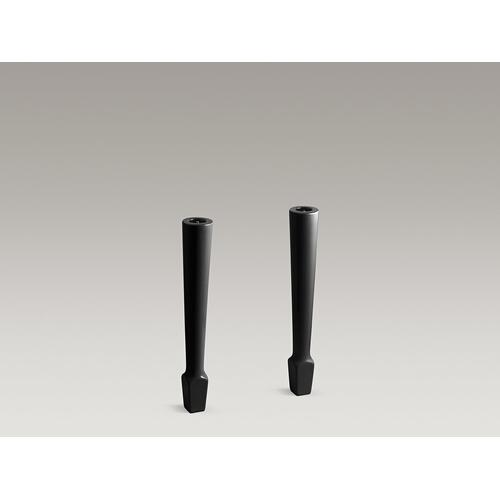 "Product Image - Black Black 4-1/8""x 26-5/8"" High Fireclay Legs (pair)"