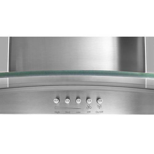 """Product Image - 30"""" Concave Glass Wall Mount Range Hood"""