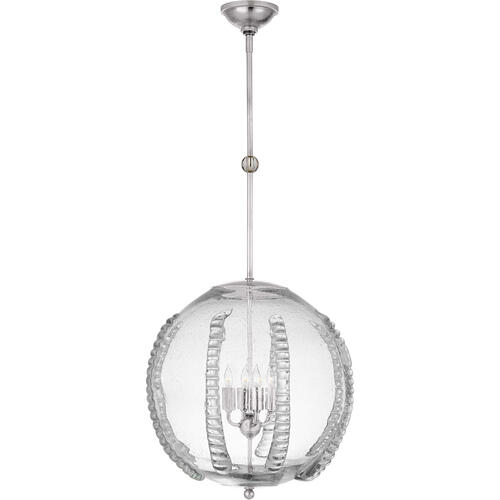Visual Comfort - AERIN Gisela 4 Light 19 inch Polished Nickel Globe Pendant Ceiling Light, Large
