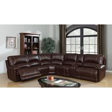 Cameron Brown Leather Gel Reclining Sectional