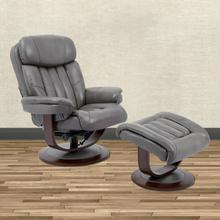 View Product - PRINCE - ICE Manual Reclining Swivel Chair and Ottoman