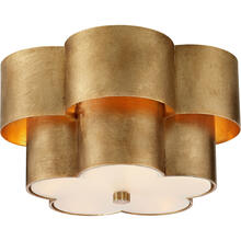 AERIN Arabelle 3 Light 14 inch Gild Flush Mount Ceiling Light