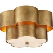 View Product - AERIN Arabelle 3 Light 14 inch Gild Flush Mount Ceiling Light