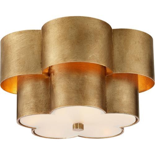 AERIN Arabelle 3 Light 14 inch Gild Flush Mount Ceiling Light