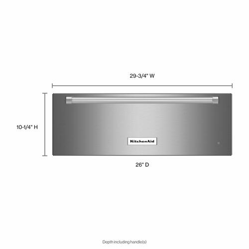 KitchenAid - 30'' Slow Cook Warming Drawer - Stainless Steel