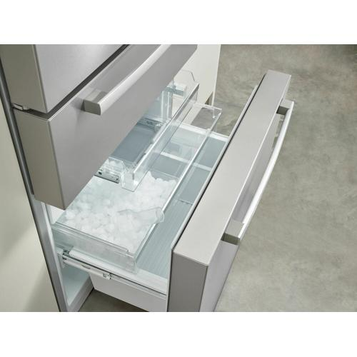 Bosch - 800 Series French Door Bottom Mount Refrigerator 36'' Easy clean stainless steel B36CL80SNS
