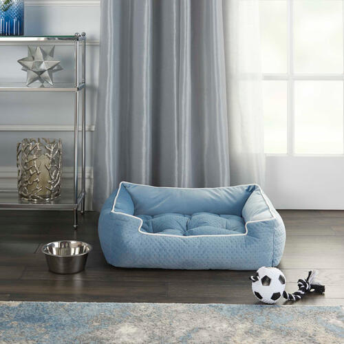 "Pet Beds Bt901 25"" X 21"" X 7"" Blue Pet Bed"