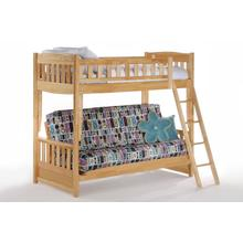Cinnamon Futon Bunk in Natural Finish