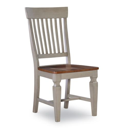 Slatback Chair in Hickory & Stone