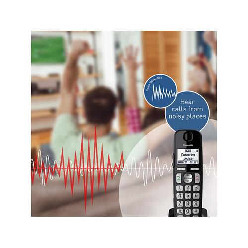 Expandable Cordless Phone System with Answering Machine - 3 Handsets - KX-TGE433B