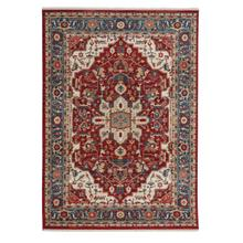 Alden-Medallion Classic Red Machine Woven Rugs