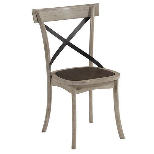 X-Back Dining Chairs, Set of 2 - Gingerbread/White Finish