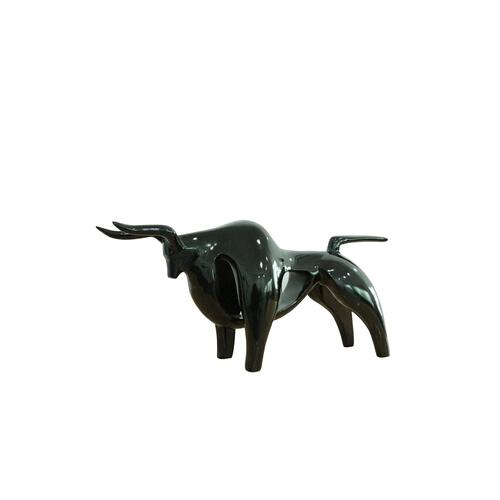 Gallery - Modrest Oxen Modern Black Sculpture