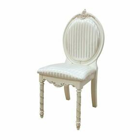 ACME Pearl Chair - 01022 - Pearl White & Gold Brush Accent