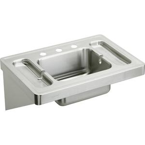 """Elkay Stainless Steel 28"""" x 20"""" x 7-1/2"""", Wall Hung Lavatory Sink Product Image"""