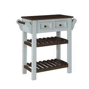 Console w/ Towel Bars - Seafoam/Dark Chocolate Finish