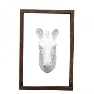 Zebra Head in Frame