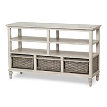 3-Basket Entertainment Center -Two Toned Gray Finish