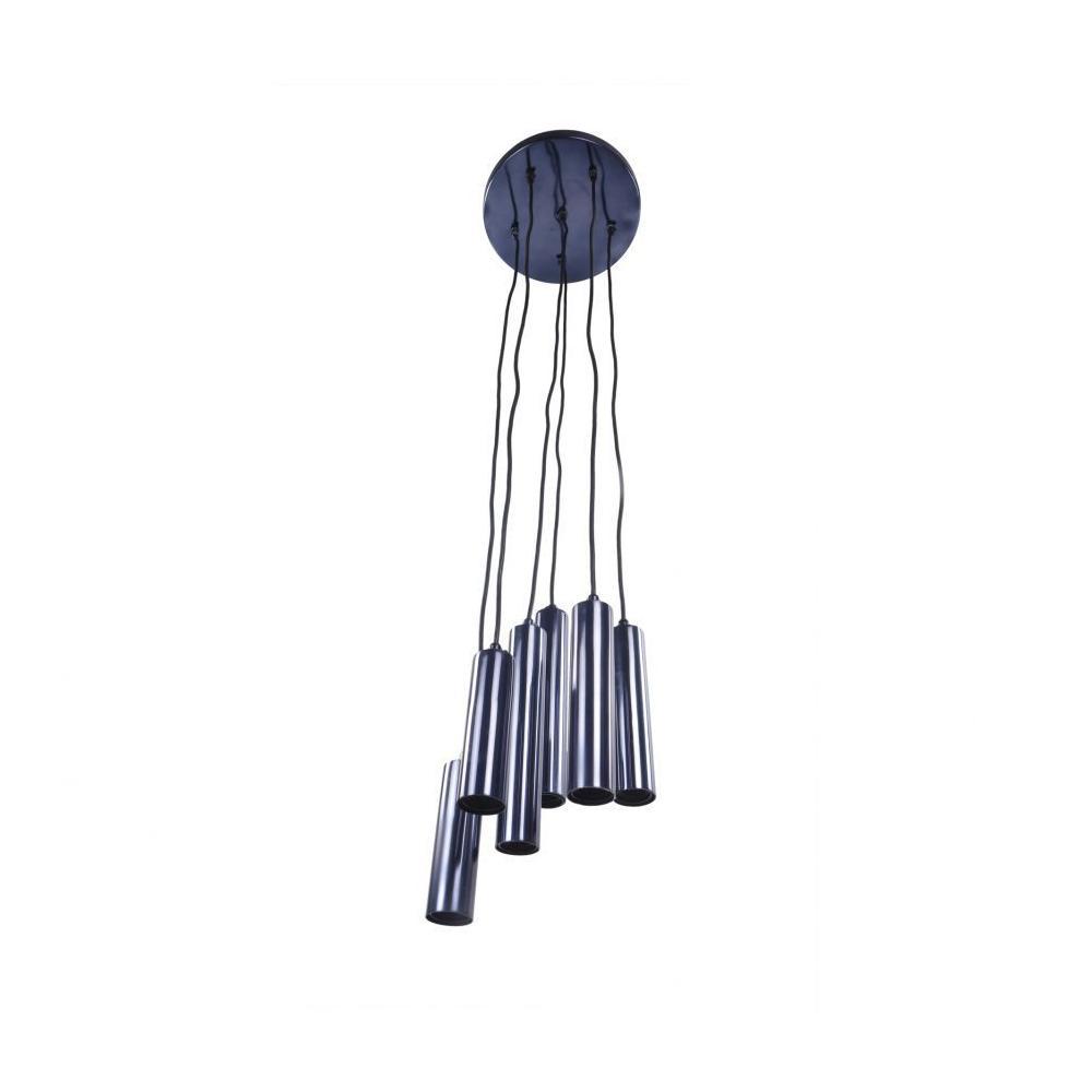 Tubular Led Pendant Lamp Carbon Blue