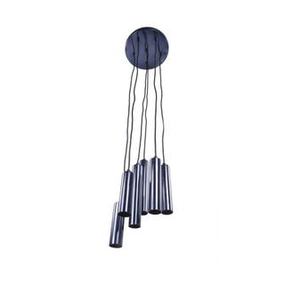 Tubular Led Pendant Lamp Carbon Blue