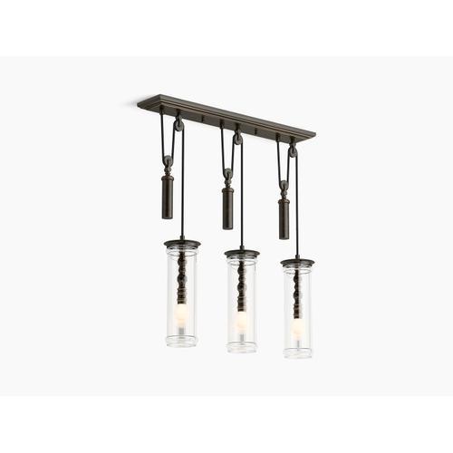 Oil Rubbed Bronze Three-light Adjustable Linear