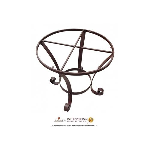 Wrought Iron Base for Table - Brown Color