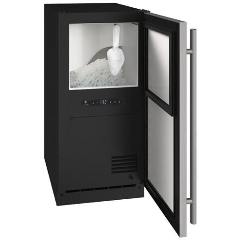"""U-Line - Anb115 / Anp115 15"""" Nugget Ice Machine With Stainless Solid Finish, Yes (115 V/60 Hz Volts /60 Hz Hz)"""