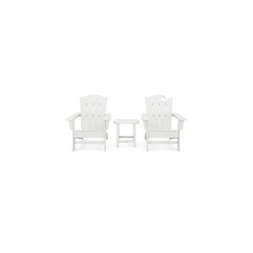 Polywood Furnishings - Wave Collection 3-Piece Set in Vintage White